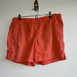 Columbia Orange Athletic Shorts